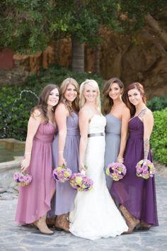 purple,  lilac, lavender dresses for the ladies