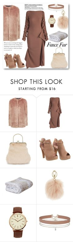 """""""FAUX FUR"""" by naomy-nona ❤ liked on Polyvore featuring Pinko, Shrimps, Furla, BKE, Miss Selfridge and fauxfux"""