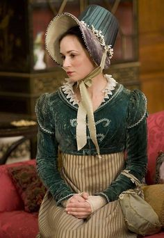 "Spencer jacket detailing ""Emma Pierson as Fanny Dorrit in Little Dorrit (TV Mini-Series, Regency Dress, Regency Era, Historical Costume, Historical Clothing, Jane Austen, Little Dorrit, Vintage Outfits, Vintage Fashion, Mode Costume"
