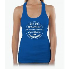 She Was Warned Womens Tank Top