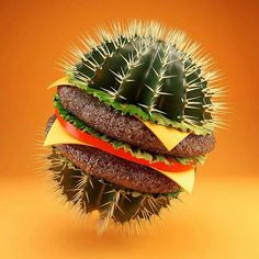 It's looks so good... But I just can't.... - anyone know the artist? #cgi #design #foodie #burgers #c4d by giantpropeller
