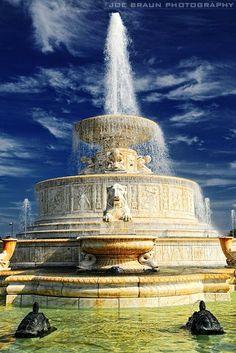 Scott Memorial Fountain on Belle Isle, Detroit, MI, by Joe Braun Photography