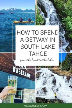 "How to Spend a Getaway in South Lake Tahoe ""Though this press trip was sponsored by Tahoe South, all Lake Tahoe Summer, Lake Tahoe Vacation, Vacation Spots, Cabins In Lake Tahoe, Vacation Trips, Lakes In California, California Travel, Southern California, Tahoe California"