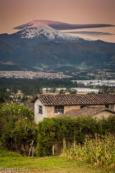 Last blaze of sunshine on Cayambe (Explored) by TerranovaTrek, via Flickr