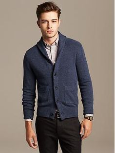 Textured Shawl-Collar Cardigan | Banana Republic