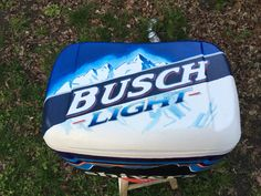 busch light painted cooler