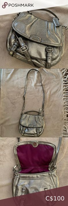Coach crossbody and top handle antique gold