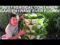 Grow 53 Plants in 4 Sq Ft with a Garden Tower Vertical Container+ How To Make Your Own Container | The Homestead Survival