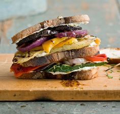 Grilled Vegetable and Goat Cheese Sandwich recipe by Emeril Lagasse