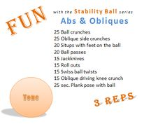 Fun with the Stability ball series Abs & Obliques