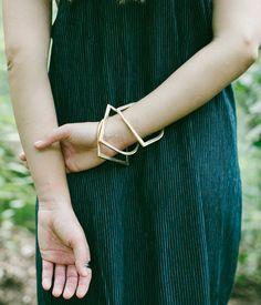 Rose & Fitzgerald — Brass Half Moon Bangle