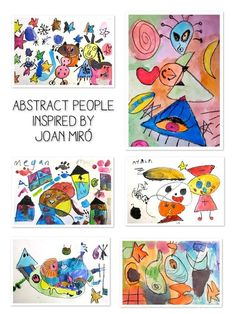 abstract people inspired by Joan Miro