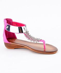 Take a look at this Fuchsia Estefania-03 Wedge by Cape Robbin Collection on #zulily today!