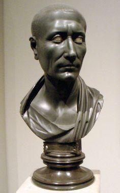 Gaius Julius Caesar, 100 BC - 44 BC, (green slate, made in 1st century AD, Antikensammlung Berlin, Altes Museum)