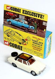 Corgi Toys Rover 2000 white/black factory trial color