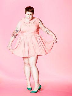 Plus size tea party outfit! plus size ootd, plus size fashion, plus size outfit, plus size pastel, plus size dress.