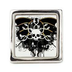 #Skulls with floral elements and #wings, #Ring