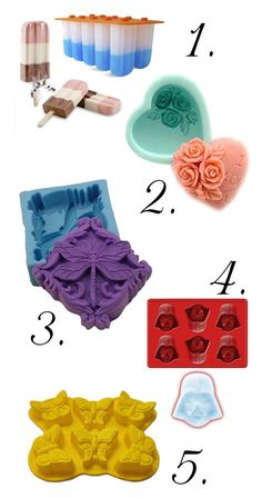 Silicone Soapmaking Molds - Fabulous and Fun Soap Molds for Spring and Summer - Perfect for crafting DIY Homemade Wedding Favors and Mother's Day Gifts