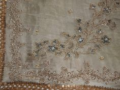 Detailed embroidery from my wedding sari