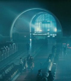 L.A. train station doubling for the police station in Blade Runner.