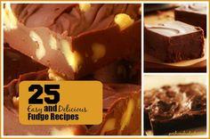 25 EASY and Delicious Fudge #Recipes