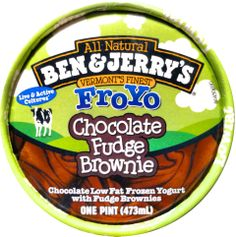 Ben & Jerry's Chocolate Fudge Brownie - Fro Yo Live & Active Cultures, New Name/Look for 2008