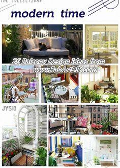 26 Design Ideas for Balcony   www.FabArtDIY.com LIKE Us on Facebook ==> https://www.facebook.com/FabArtDIY