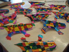 ARTE EN LA ESCUELA: Gaudí School Art Projects, Projects For Kids, Craft Projects, Crafts For Kids, Arts And Crafts, Paper Crafts, Primary School Art, Elementary Art, Artists For Kids