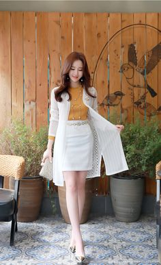 Korean Fashion – How to Dress up Korean Style – Designer Fashion Tips Dress Outfits, Fashion Dresses, Dress Up, Mode Kpop, Work Fashion, Fashion Design, Fashion Ideas, Women's Fashion, Office Outfits Women