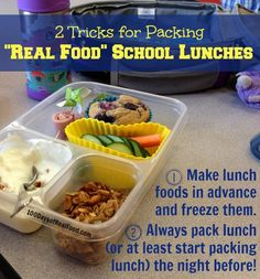 Real Food Tips:  10 Recipes to Freeze for School Lunches | 100 Days of Real Food