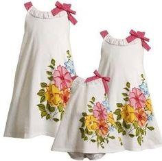Vestido para niñas blanco floral  Vestido para niñas blanco floral-detalles del modelo Hermozos vestidos de verano para niñas de...
