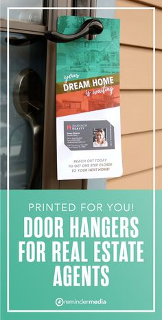 Connecting with future homebuyers is one of the easiest ways to get leads for your business. This door hanger puts your name and contact information directly in front of the most valuable prospects, giving them an opportunity to reach out to you when they are ready to start their home search. Simply add your business card. real estate marketing ideas - realtor farming ideas - real estate door hanger designs - free door hanger printable Relationship Marketing, To Reach, Next At Home, Real Estate Marketing, Door Hangers, Get One, Home Buying, Dreaming Of You, Farming Ideas