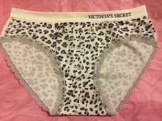 Victoria's Secret Hiphugger Panty Brown Grey Dots Pattern New Small Size Nylon #VictoriasSecret #Hiphugger