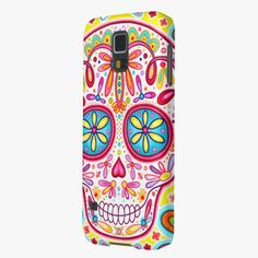 It's cute! This Sugar Skull Samsung Galaxy S5 Case - Colorful! is completely customizable and ready to be personalized or purchased as is. Click and check it out!