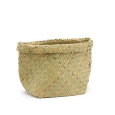 Nat Woven Rolled Top Pot w/Bottom Gusset Bag Floral New Zealand Flax, Flax Weaving, Kiwiana, Floral Supplies, Box Bag, Gift Packaging, Diy Wedding, Wicker, Decorative Bowls