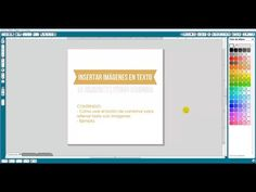 Tutorial Insertar Imágenes en Texto en Silhouette Studio Designer (Español) - YouTube