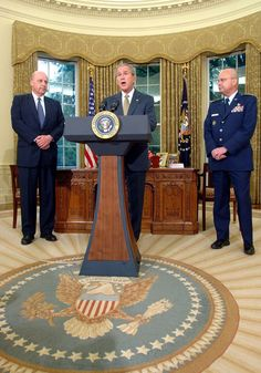 President Bush names Michael Hayden as CIA Director from the Oval Office.