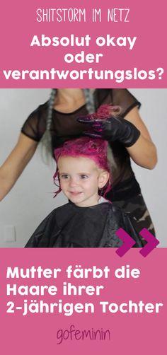 Eine Blogger-Mama wird angefeindet, weil sie die Haare ihre kleinen Tochter pink gefärbt hat.