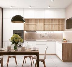 Awesome modern kitchen room are readily available on our internet site. Check it out and you wont be sorry you did. Kitchen Room Design, Kitchen Cabinet Design, Home Decor Kitchen, Kitchen Furniture, Kitchen Interior, Casa Clean, Modern Kitchen Cabinets, Contemporary Kitchen Design, Cuisines Design