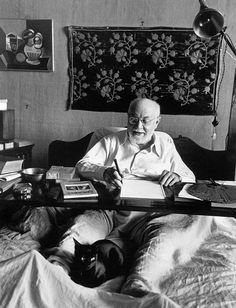 Henri Matisse and his cat...