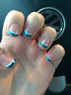My Pretty Nailz Pcos And Ovarian Cancer Awareness Nails Nail Art Teal Ribbon A Ideas