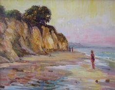 '''Santa Barbara Shore'' 12x16 oil