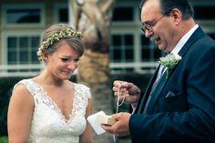 Nashville Wedding Photographer - Jon Reindl Photography. #bride #father #gift #weddingday #dress #floralcrown #sosweet #beautiful #nashvilleweddingphotographer