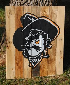 Rustic Oklahoma State University Cowboys by StillyWoodDesigns