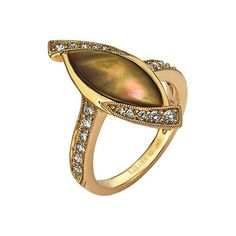 Image of Kabana - Bronze Mother of Pearl & Diamond Ring