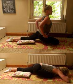 Yoga Übung: Taube