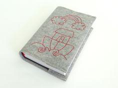 Büchertaschen - Gotteslob - Hülle aus Wollfilz - ein Designerstück von susannes-kreative-seite bei DaWanda