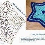 Copertina o tappeto stella crochet