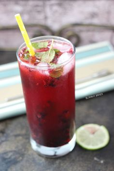 Blackberry Lime Mojitos