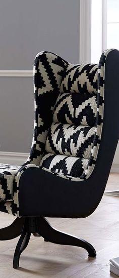 Cobb Swivel Chair - Urban Geometric Print